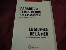 """COF 2 DVD NEUF """"PARADE DU TEMPS PERDU (Les casse-pieds) / LE SILENCE DE LA MER"""""""