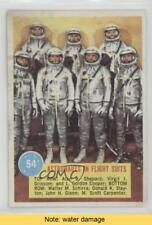 1963 Topps Popsicle Space Cards #54 Astronauts in flight suits READ Card 0w6