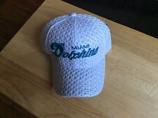 Miami Dolphins White  Air Mesh Hat Adjustable