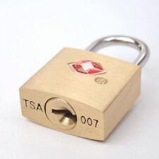 TSA Approvato Ottone Massiccio Chiave di accesso Lock Lucchetto Per Valigia Bagaglio Da Viaggio