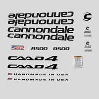 Cannondale R500 CAAD4 Calcamonías para bicicleta, Transfers, ADHESIVOS: N.2022