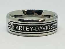 Harley Davidson Men's H D Bar Script Stainless Steel Band Ring Size 13