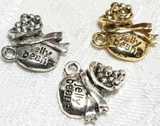BAG OF JELLY BEANS FINE PEWTER PENDANT CHARM - 15x14x5mm