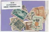 India Portuguesa US Pacco 50 Francobolli Differenti