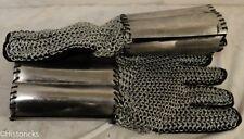 Medieval Chain Mail Gloves (Gauntlets) re-enactment / larp / theatre