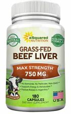 Grass Fed Beef Liver (Desiccated) - 180 Capsules - Pasture-Raised 3000mg