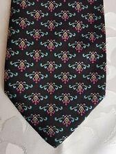 Cravate PIERRE CARDIN fabriquée en France - noir/rose/vert/jaune/blanc 100% SOIE