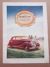 Rolls Royce Jack Barclay Single Page Magazine Advert c.1949