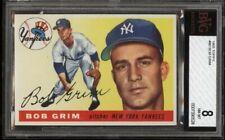 1955 Topps #80 Bob Grim (R) BVG 8 NM-MT Yankees Rookie, Rare, POP 3, None Higher