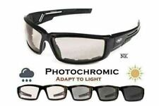 Sly Padded Motorcycle Sunglasses-TRANSITION PHOTOCHROMIC LENS (Clear To Smoked)