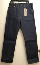Levis 501 Shrink to Fit Blue or Black Raw Denim Jeans Button Fly 0000 NWT