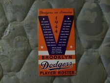 1944 BROOKLYN DODGERS MEDIA GUIDE Press Book Program ROSTER Yearbook AD