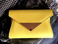 NEW STONE NUDE FAUX LEATHER  EVENING CLUTCH BAG XMAS PARTY ORANGE YELLOW PURPLE