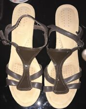 "NWOB ROCKPORT Women's Brown Sandal Wedge ADIPRENE by Adidas"" Shoe Size 8M"