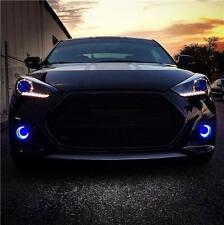 Halo Fog Lamp Blue Angel Eye Driving Lights Kit for Hyundai Veloster Turbo