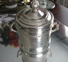 ANTIQUE VICTORIAN SILVER PLATE CROCK  CHAMPAGNE/WINE ICE BUCKET