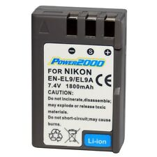 Power2000 EN-EL9A ENEL9 Rechargeable Battery for Nikon D3000, D5000 Camera