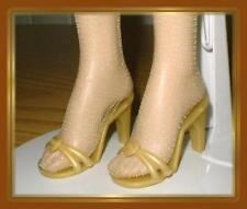 "GOLD High Heel Sandals Doll Shoes for Tonner 18"" KITTY COLLIER DeeAnna Denton"