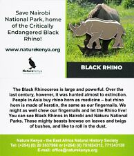 RSPB Pin Badge | Black Rhino | Nature Kenya [01366]