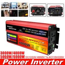 3000W-6000W Peak Power Solar Inverter 12/24/48/60V DC To 110/220V AC Converter