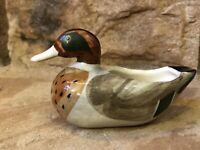 Vintage Cigar Rest Duck Ashtray Hand Painted Underglaze Goss Porcelain