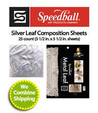 Speedball Mona Lisa Composition Silver Leaf, 25 Sheet Pack 0010206