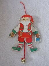 Midwest Of Cannon Falls Pull String Santa Claus Christmas Ornament