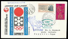 Olympic flight Olympiade Sonderflug JAL-SU 25.10.71 Frankfurt-Sapporo geprüft