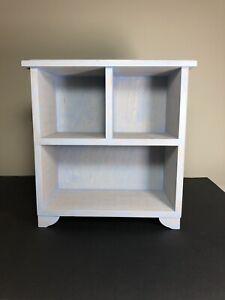 "Rare Marjolein Bastin Vintage Open Display Cabinet Wood Free Standing 12""x10.5"""