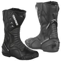 New Waterproof Motorcycle Touring Leather Shoes Motorbike Racing Armour Boots UK