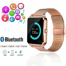 Bluetooth Smart Watch GSM SIM Phone Mate Stainless Steel Camera For iOS Android