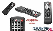 Neuf 10 en 1 universal remote control tv dvd vcr sky satellite câble lecteur cd