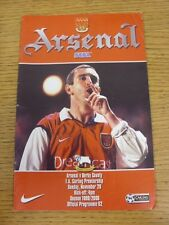 28/11/1999 Arsenal v Derby County  (the item is in good/very good condition with