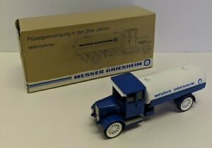 Messer Griesheim Man Oldtimer KVB4 Tanker Truck model #1035 1:50 w/box Germany
