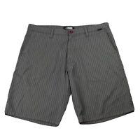 Rip Curl Casual Mens Board Shorts Size 36 Grey Striped