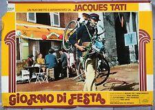 Affiche JOUR DE FETE Vélo Bicyclette Bike JACQUES TATI Facteur Aff. Italienne