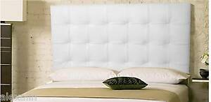 Extra Tall Wall Mounted Queen White Genuine Leather Headboard