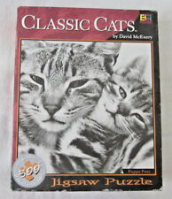 "Vintage 500pc Buffalo Games Puzzle, Classic Cats ""POPPA PUSS"" 1999"