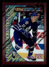 1995-96 Finest Refractor #177 Mats Sundin Maple Leafs (ref 8940)