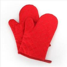 Double Oven Gloves Cotton + Silcone Heat Resistant Padded Insulated Mitts 1 Pair
