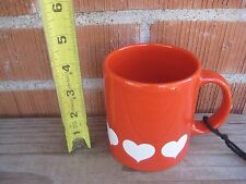 Vintage *** HEART LOVE VALENTINE *** Ceramic Mug Cup WAECHTERSBACH GERMANY