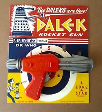 1965 Lone Star Products UK - Dalek Rocket Gun - Dr Doctor Who with repro card