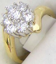14K GOLD EP 1.62CT DIAMOND SIMULATED FLOWER RING 9 or R.5