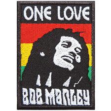 One Love Bob Marley Marijuana Africa Judah Reggae Rasta Peace Iron-On Patch R080