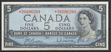 1954 BANK OF CANADA 5 DOLLARS N/X REPLACEMENT CHOICE UNCIRCULATED BC-39bA NOTE