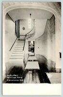 Vincennes Indiana~Harrison House Hall & Stairs~Rugs in Hallway~1930s RPPC