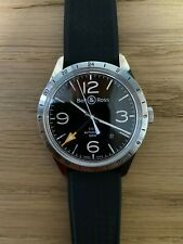 Bell & Ross BR 123 GMT 24H 100M Men's BR123-93-SP 42mm Automatic w/ great straps