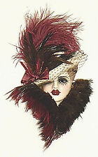 Unique Creations Masked Lady Face Mask Wall Hanging Decor