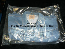 """100 EXTRA LARGE 18""""x 24"""" CLEAR FLAT PLASTIC MERCHANDISE / STORAGE BAGS 1.5MIL"""