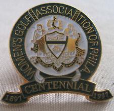WOMEN'S GOLF ASSOCIATION OF PHILADELPHIA CENTENNIAL PIN 1997